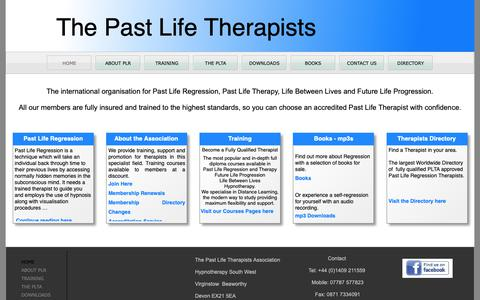 Screenshot of Home Page pastliferegression.co.uk - Past Life Regression - captured Oct. 21, 2018