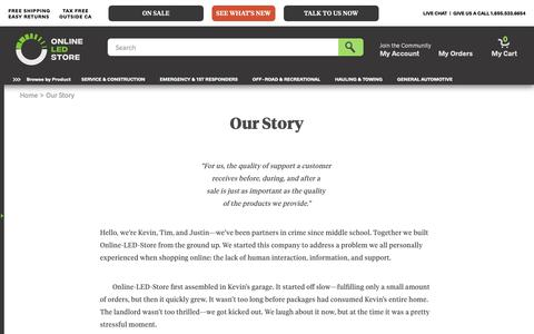 Screenshot of About Page online-led-store.com - About Us | Online-LED-Store.com - captured Nov. 19, 2018