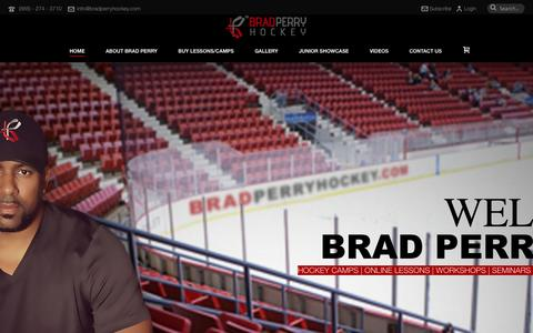 Screenshot of Home Page Jobs Page Terms Page bradperryhockey.com - Home- Brad Perry Hockey - captured Sept. 30, 2014