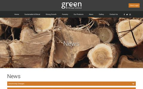 Screenshot of Press Page greenis.co.uk - News – Green IS - captured Sept. 30, 2018