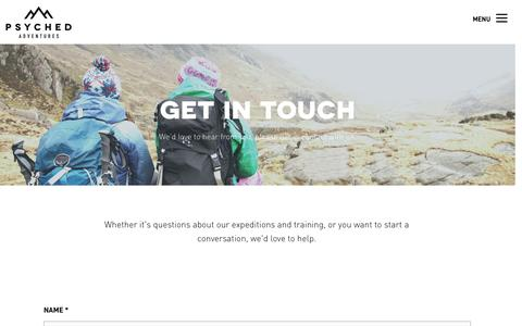 GET IN TOUCH — Psyched Adventures
