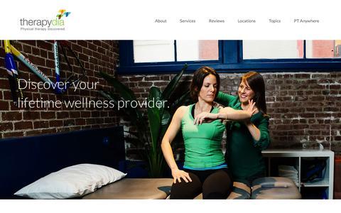 Screenshot of Services Page therapydia.com - Therapydia's Physical Therapy and Wellness Services - captured Dec. 4, 2015