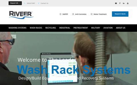 Screenshot of Home Page Blog riveer.com - Steel Wash Racks, Equipment Washing, Wash Pads, Truck Washing: Riveer - captured April 11, 2018
