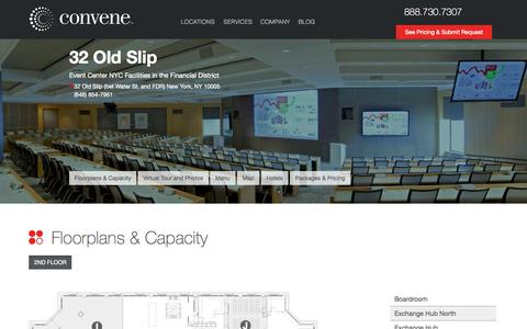 Screenshot of Locations Page convene.com - Event Center NYC in the Financial District - captured Oct. 15, 2015