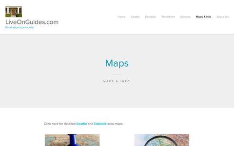 Screenshot of Maps & Directions Page wordpress.com - Maps | LiveOnGuides.com - captured June 16, 2016