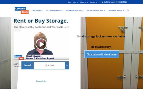 Screenshot of Home Page containerteam.co.uk - Container Sales, Container Hire & Self Storage North Somerset - captured July 21, 2018
