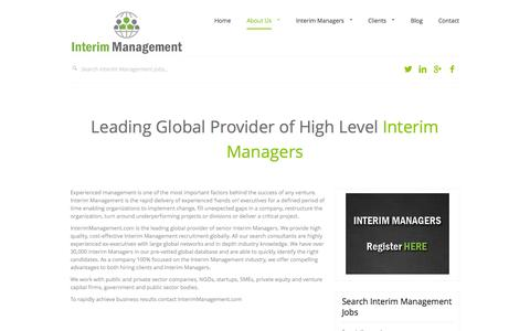 Screenshot of About Page interimmanagement.com - About Interim Management - Interim Management - captured Sept. 30, 2014