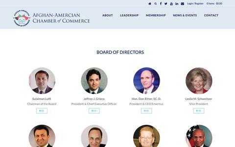 Screenshot of Team Page a-acc.org - AACC | Afghan-American Chamber of Commerce Leadership | AACC | Afghan-American Chamber of Commerce - captured Oct. 3, 2018