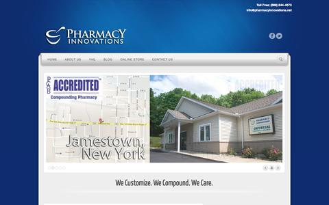 Screenshot of Locations Page pharmacyinnovations.net - Locations   Pharmacy Innovations - captured Sept. 29, 2014