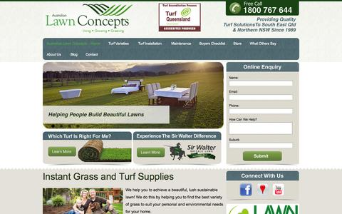 Screenshot of Home Page alcturf.com.au - Australian Lawn Concepts - captured Oct. 4, 2014