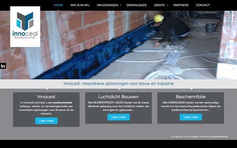 Screenshot of Home Page innoceal.com - Gespoten luchtdichting en tijdelijke beschermfolie - captured Sept. 30, 2014