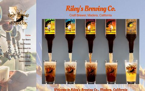 Screenshot of Home Page rileysbrewing.us - Home - Riley's Brewing Co. Madera, CA - captured Aug. 29, 2015