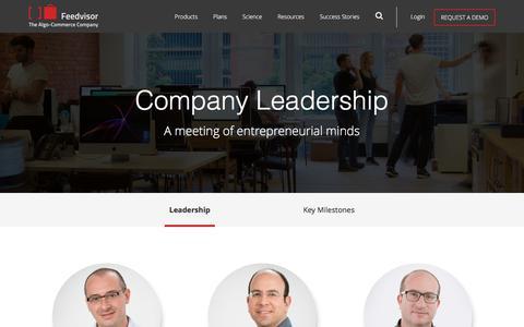 Screenshot of About Page feedvisor.com - Company - Feedvisor - captured March 26, 2017