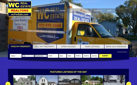 Screenshot of Home Page wcforsale.com - WC Real Estate - - captured Feb. 21, 2016