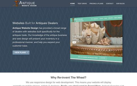 Screenshot of Home Page antiquewebsitedesign.com - Antique Website Design: Tailored For Antiques Dealers - captured Jan. 25, 2017