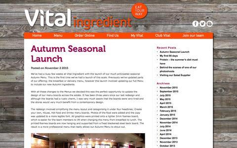 Screenshot of Press Page vitalingredient.co.uk - Blog Archives - Vital Ingredient - captured Nov. 23, 2015