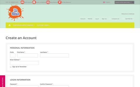 Screenshot of Signup Page inkstreak.in - Create New Customer Account | InkStreak - captured Sept. 22, 2014