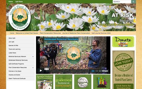 Screenshot of Press Page unitedplantsavers.org - United Plant Savers - UpS Journal Summer 2003 - captured Aug. 13, 2015