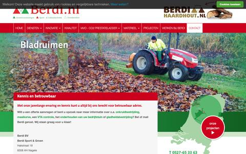 Screenshot of Contact Page berdi.nl - Contact met Berdi | Berdi - captured Oct. 5, 2018
