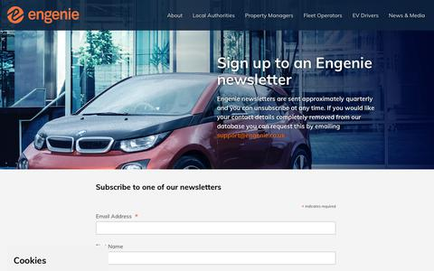 Screenshot of Signup Page engenie.co.uk - Newsletter | Engenie - captured Sept. 28, 2018