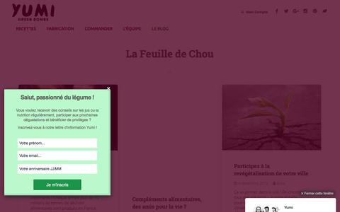 Screenshot of Blog yumi.fr - La Feuille de Chou - Le Blog de Yumi - captured Feb. 13, 2016