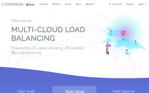 Screenshot of Home Page constellix.com - Constellix | Cloud Managed DNS & Load Balancing - captured Nov. 5, 2018