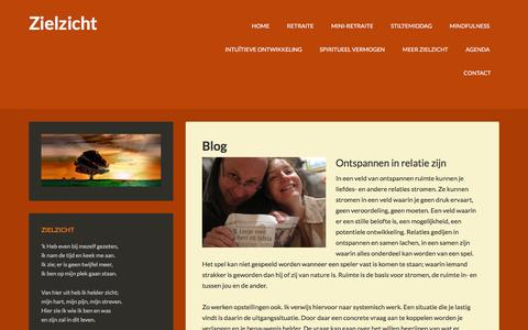 Screenshot of Blog zielzicht.nl - Blog - Zielzicht - captured Feb. 13, 2016