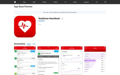 Vodafone Heartbeat on the AppStore