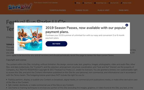 Screenshot of Terms Page emeraldpointe.com - Terms of Use | Wet'n Wild - captured Oct. 18, 2018