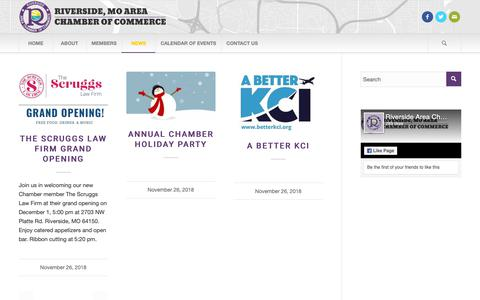 Screenshot of Press Page riversidemochamber.com - Chamber of Commerce |   Blog - captured Nov. 27, 2018