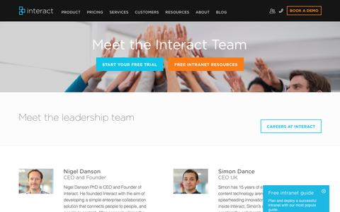 Screenshot of Team Page interact-intranet.com - Team | Interact Intranet Software - captured Aug. 6, 2016