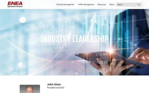 Screenshot of Team Page owmobility.com - Leadership - Enea Openwave - captured Nov. 22, 2019
