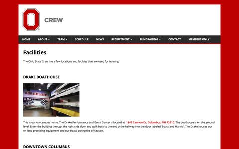 Screenshot of Locations Page osucrew.org - Facilities - captured Oct. 18, 2018