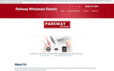 Screenshot of Home Page Site Map Page parkwaywholesale.com - Parkway Wholesale | America's #1 Supplier in Electrical & Lighting - captured Sept. 30, 2014