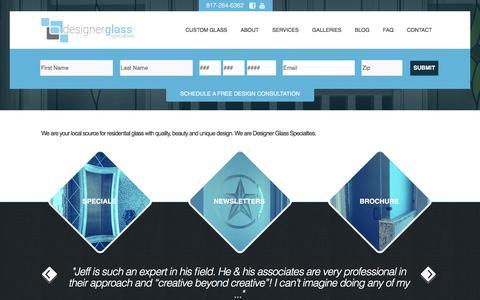 Screenshot of Services Page designerglass.tv - Designer Glass Specialties: Decorative Glass - captured Oct. 12, 2017
