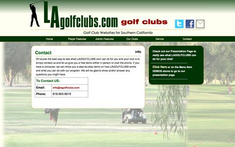 Screenshot of Contact Page Signup Page lagolfclubs.com - LAGOLFCLUBS GOLFER, special deals for the Los Angeles Golfer - captured May 21, 2016