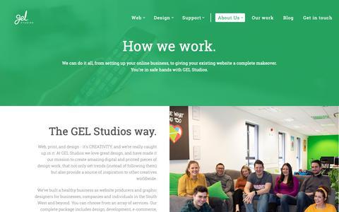 Screenshot of About Page gelstudios.co.uk - Digital Agency Swindon - Web, Design & Support - captured April 19, 2019