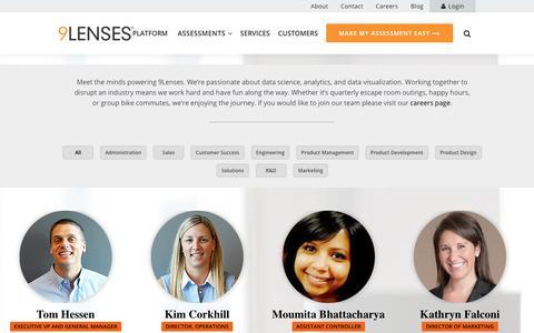 Screenshot of Team Page 9lenses.com - Team - 9Lenses, Cloud Assessment Platform. We Make Assessments Easy. - captured July 13, 2018