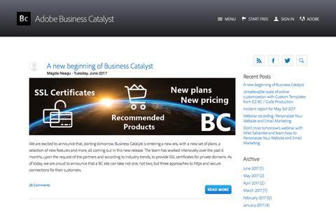 Screenshot of Blog businesscatalyst.com - Business Catalyst Blog - captured June 17, 2017