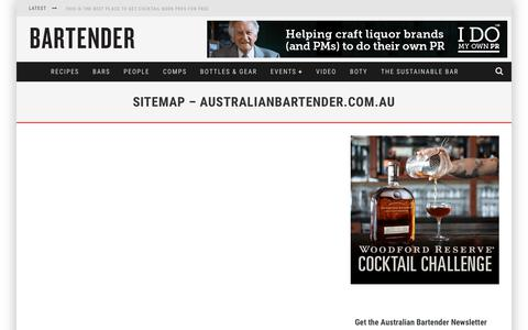 Screenshot of Site Map Page australianbartender.com.au - Sitemap - australianbartender.com.au | australianbartender.com.au - captured Aug. 1, 2017