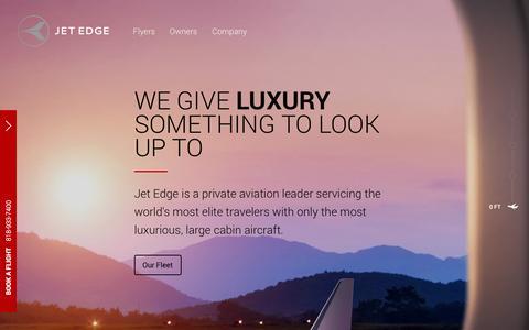 Screenshot of Home Page flyjetedge.com - Jet Edge - captured Sept. 22, 2014