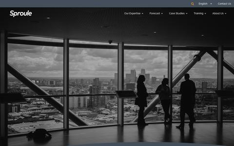 Screenshot of Home Page sproule.com - Sproule: Energy - Oil, Gas, Petroleum Consulting & Strategic Investment Advisory Firm Canada - captured Sept. 21, 2018