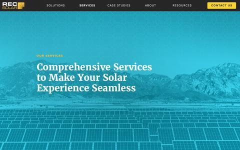 Screenshot of Services Page recsolar.com - Services | REC Solar Commercial Corporation - captured April 14, 2017