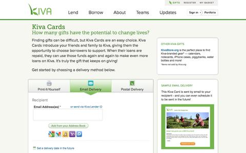 Kiva - Kiva Cards - Need A Gift Idea? Give a Kiva Card Today!