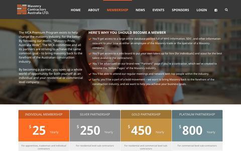 Screenshot of Signup Page masonrycontractors.com.au - Membership   Masonry Contractors - captured Nov. 27, 2016