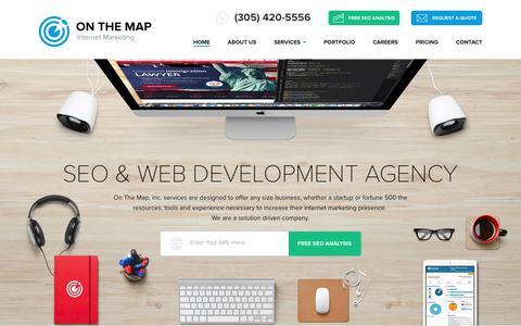 Screenshot of Site Map Page onthemapmarketing.com - Nav Map - captured June 28, 2017