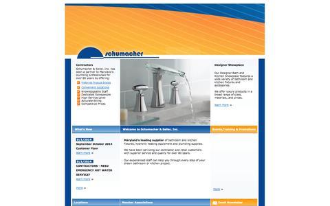 Screenshot of Home Page schumacherseiler.com - Schumacher & Seiler - captured Oct. 1, 2014
