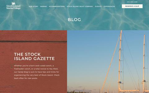 Screenshot of Blog stockislandmarina.com - Things to Do in Key West   Blog   Stock Island Marina Village - captured Oct. 20, 2018