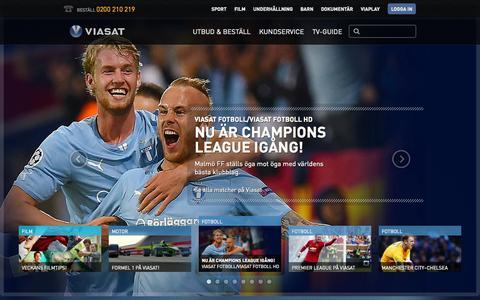 Screenshot of Home Page viasat.se - Viasat - Marknadens bredaste utbud av film, sport & dokumentärer - captured Sept. 23, 2014
