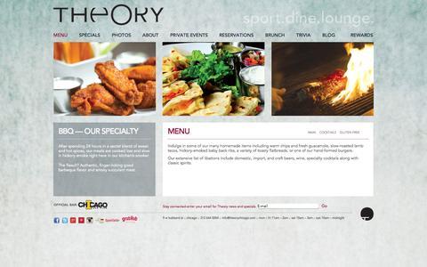 Screenshot of Menu Page theorychicago.com - Menu: Theory - captured Sept. 30, 2014